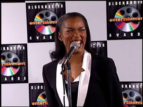 angela bassett at the blockbuster entertainment awards at pantages theater in hollywood, california on june 3, 1995. - pantages theater stock videos & royalty-free footage