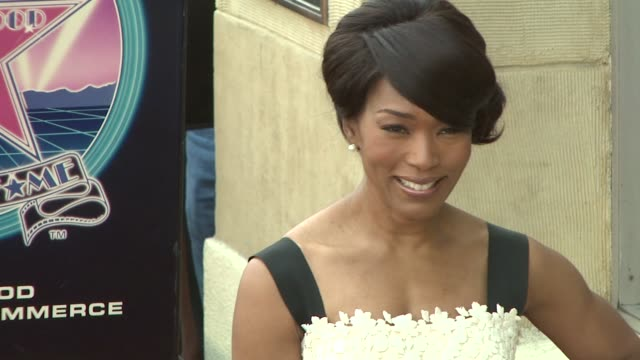 Angela Bassett at the Dedication of Angela Bassett's Star on March 20 2008