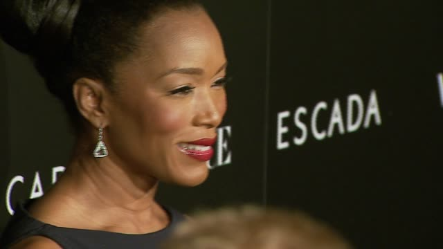 angela bassett at the the grand opening of the beverly hills flagship boutique celebrated by escada hilary swank and vogue at escada in beverly hills... - escada stock videos & royalty-free footage