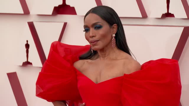 angela bassett at the93rd annual academy awards - arrivals onapril25, 2021. - academy awards stock videos & royalty-free footage