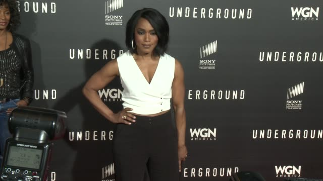 Angela Bassett at WGN America's Underground Los Angeles Premiere at The Theatre At The Ace Hotel on March 02 2016 in Los Angeles California