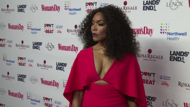 Angela Bassett at Woman's Day Celebrates 16th Annual Red Dress Awards at Appel Room on February 12 2019 in New York City