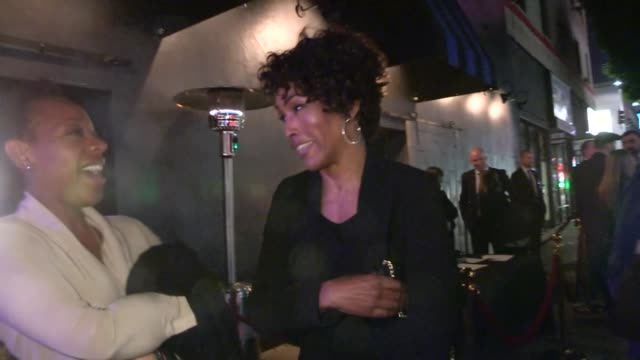 Angela Bassett friend on Idris Elba Sex Appeal at Mandela After Party at Warwick in Hollywood Celebrity Sightings in Los Angeles CA on 11/11/13