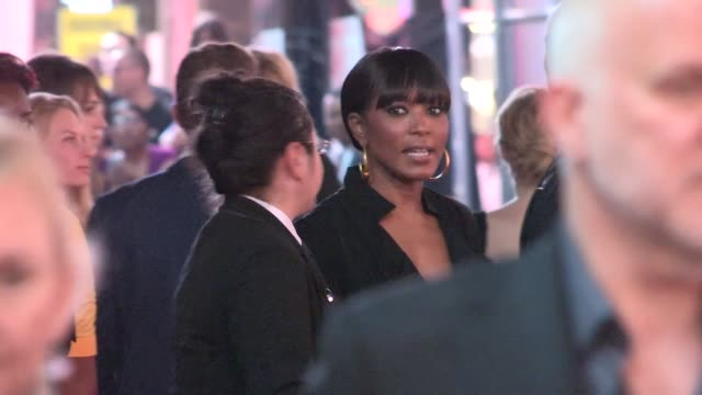 Angela Bassett greets fans at the after party for American Horror Story Freak Show in Hollywood in Celebrity Sightings in Los Angeles