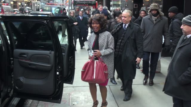 Angela Bassett leaves the Good Morning America show in Celebrity Sightings in New York