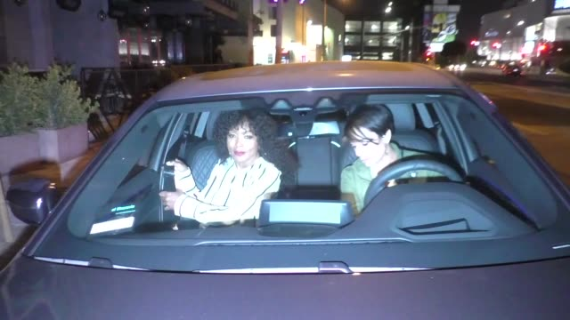 angela bassett leaves the stevie wonder song party at peppermint club in west hollywood in celebrity sightings in los angeles, - angela bassett stock videos & royalty-free footage