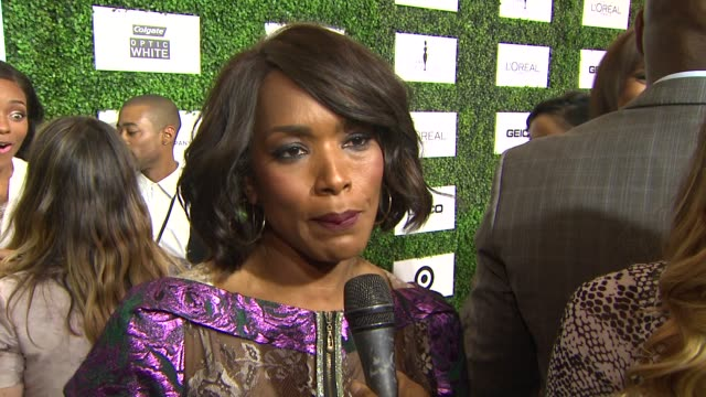 interview angela bassett on being at the event the importance of the event if more movies about the black experience will be made at the 7th annual... - beverly hills hotel stock videos and b-roll footage