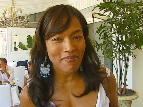 Angela Bassett on looking forward to her custommade jeans at the 7 For All Mankind WhiteHot Summer Luncheon Celebrating Summer Whites at SUR...