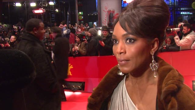 Angela Bassett on sitting next to Notorious' mother in the screening on learning about him and on the cliches surrounding rappers at the 59th Berlin...