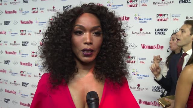 angela bassett on supporting the event at woman's day celebrates 16th annual red dress awards at appel room on february 12, 2019 in new york city. - angela bassett stock videos & royalty-free footage