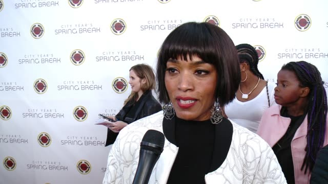 INTERVIEW Angela Bassett on the event at City Year Spring Break in Los Angeles CA