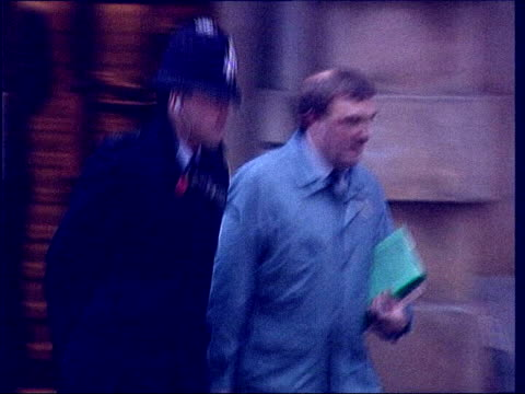 appeal against conviction lib pathologist alan williams leaving court - pathologe stock-videos und b-roll-filmmaterial