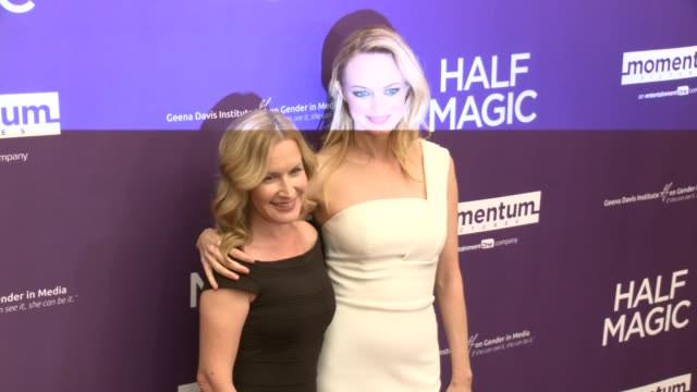 angela kinsey and heather graham at the half magic los angeles screening at the london west hollywood on february 21 2018 in west hollywood california - angela kinsey stock videos and b-roll footage