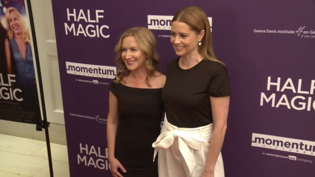 angela kinsey and jenna fischer at the half magic los angeles screening at the london west hollywood on february 21 2018 in west hollywood california - angela kinsey stock videos and b-roll footage