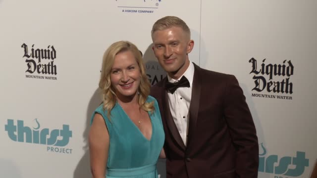 angela kinsey and seth maxwell at thirst project's 10th annual thirst gala at the beverly hilton hotel on september 28 2019 in beverly hills... - angela kinsey stock videos and b-roll footage