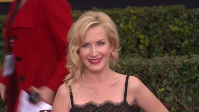 angela kinsey at 19th annual screen actors guild awards arrivals on 4/12/13 in los angeles ca - angela kinsey stock videos and b-roll footage
