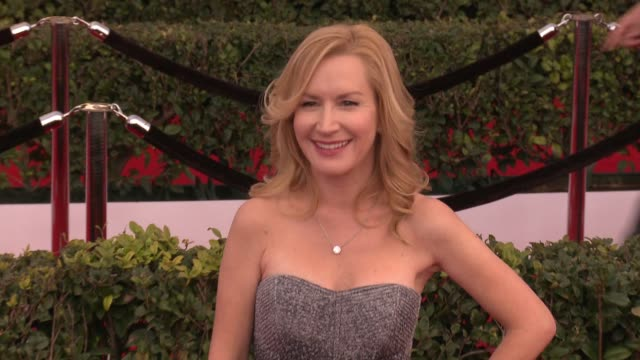 angela kinsey at 23rd annual screen actors guild awards arrivals at the shrine expo hall on january 29 2017 in los angeles california - angela kinsey stock videos and b-roll footage