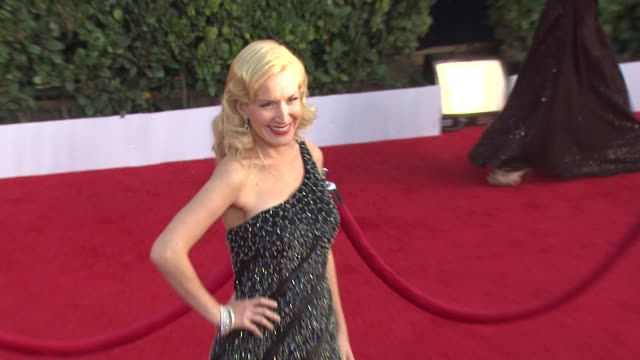 angela kinsey at the 17th annual screen actors guild awards arrivals at los angeles ca - angela kinsey stock videos and b-roll footage