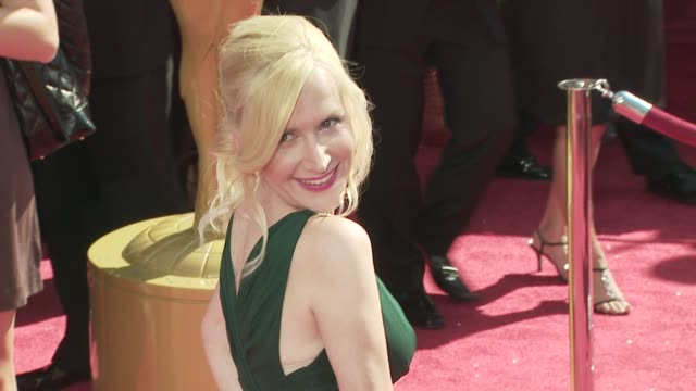 angela kinsey at the 60th primetime emmy awards at los angeles ca - angela kinsey stock videos and b-roll footage