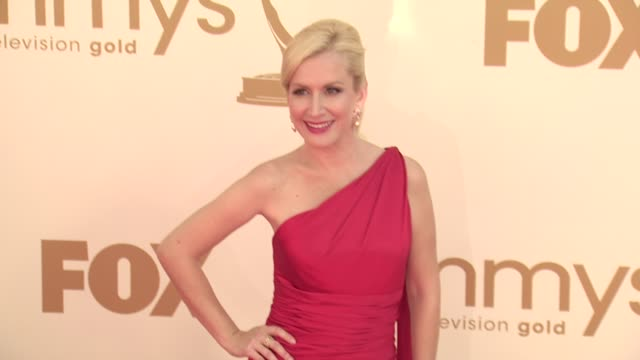 angela kinsey at the 63rd primetime emmy awards arrivals part 1 at los angeles ca - angela kinsey stock videos and b-roll footage