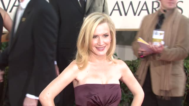 angela kinsey at the 66th annual golden globe awards arrivals part 4 at los angeles ca - angela kinsey stock videos and b-roll footage