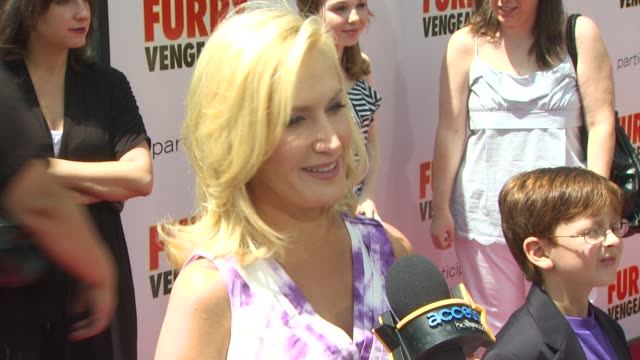 angela kinsey at the 'furry vengeance' premiere at los angeles ca - angela kinsey stock videos and b-roll footage