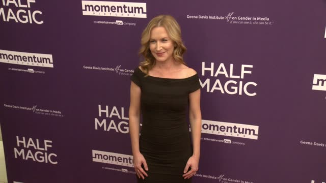 angela kinsey at the half magic los angeles screening at the london west hollywood on february 21 2018 in west hollywood california - angela kinsey stock videos and b-roll footage