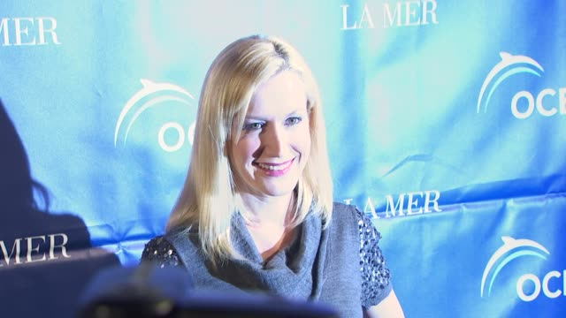 angela kinsey at the oceana annual partners award gala 2009 at los angeles ca - angela kinsey stock videos and b-roll footage