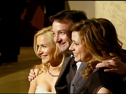 angela kinsey david rogers and jenna fischer at the 57th ace eddie awards on february 18 2007 - angela kinsey stock videos and b-roll footage