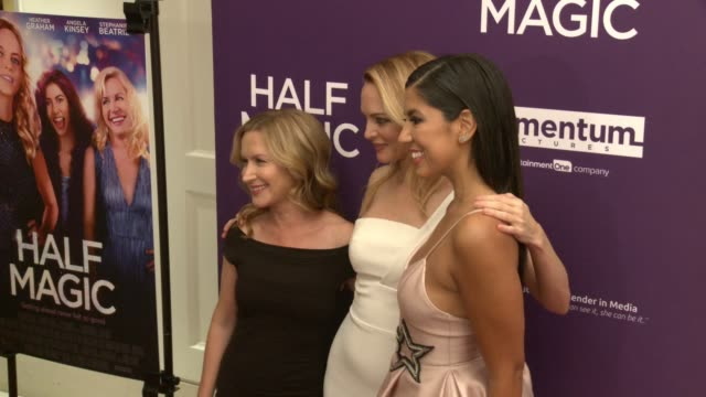 angela kinsey heather graham and stephanie beatriz at the half magic los angeles screening at the london west hollywood on february 21 2018 in west... - angela kinsey stock videos and b-roll footage