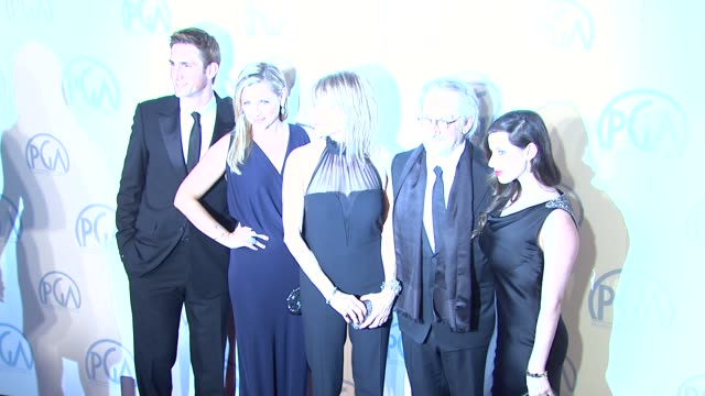 Angela Kinsey Kate Capshaw Steven Spielberg Sasha Spielberg at the 23rd Annual Producers Guild Awards on 1/21/12 in Beverly Hills CA
