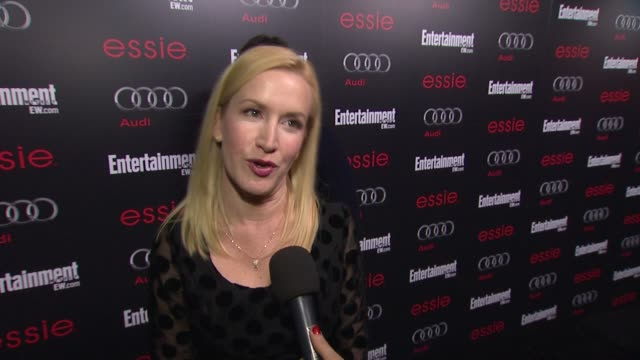 interview angela kinsey on being nominated for so many awards for so many years on this last season being emotional and what to expect at... - angela kinsey stock videos and b-roll footage