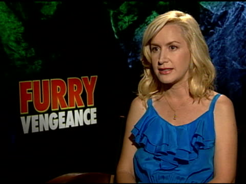 angela kinsey on the cast at the 'furry vengeance' junket at los angeles ca - angela kinsey stock videos and b-roll footage