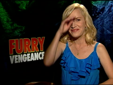 angela kinsey on the outtakes at the 'furry vengeance' junket at los angeles ca - angela kinsey stock videos and b-roll footage