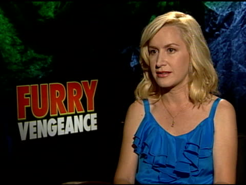 angela kinsey on the story at the 'furry vengeance' junket at los angeles ca - angela kinsey stock videos and b-roll footage