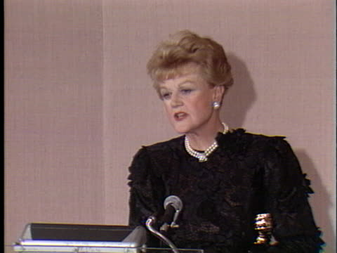 Angela Lansbury at the Golden Globes 1990 at Beverly Hilton