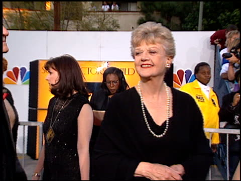 angela lansbury at the screen actor's guild awards at the shrine auditorium in los angeles, california on february 22, 1997. - shrine auditorium stock-videos und b-roll-filmmaterial
