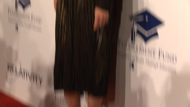 angela lindvall at the 20th annual fulfillment fund stars benefit gala red carpet honoring relativity founder and ceo ryan kavanaugh in los angeles ca - wrap dress stock videos and b-roll footage