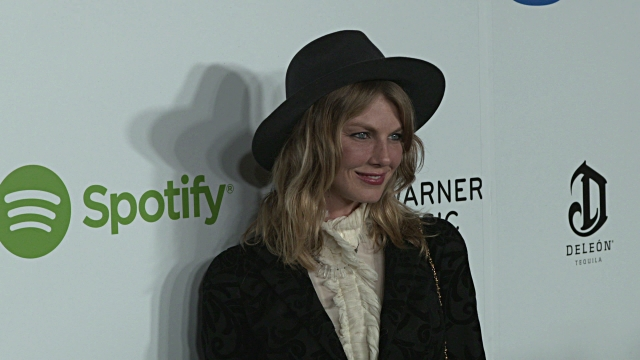 Angela Lindvall at Warner Music Group Hosts Annual Grammy Celebration in Los Angeles CA