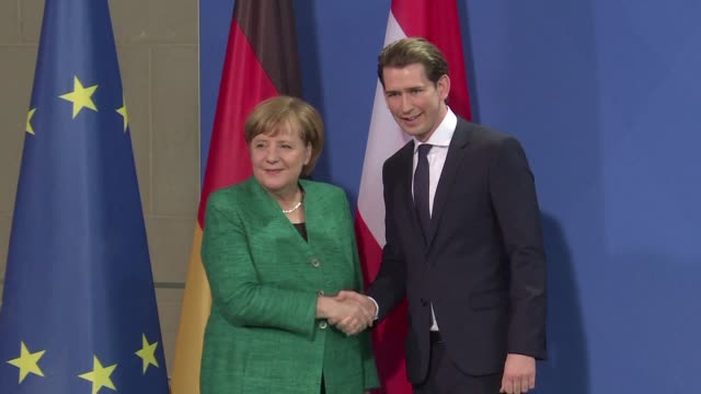 Angela Merkel and her Austrian counterpart Sebastian Kurz clash over immigration in their first meeting but say they are going to continue to work...