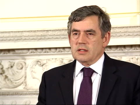 photocall and press conference with gordon brown; brown press conference sot - if we can achieve negotiation objectives, proper way is through... - trades union congress stock videos & royalty-free footage