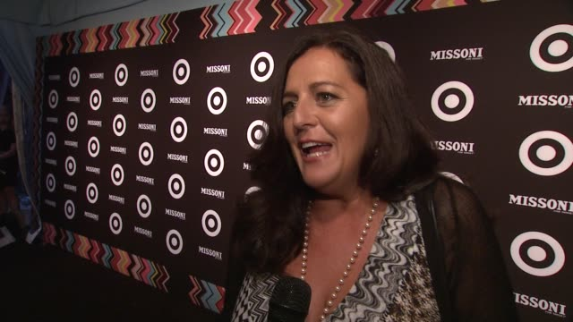 vídeos de stock, filmes e b-roll de angela missoni talks about what there is to look forward to in the collection at the missoni for target private launch event at new york ny - missoni