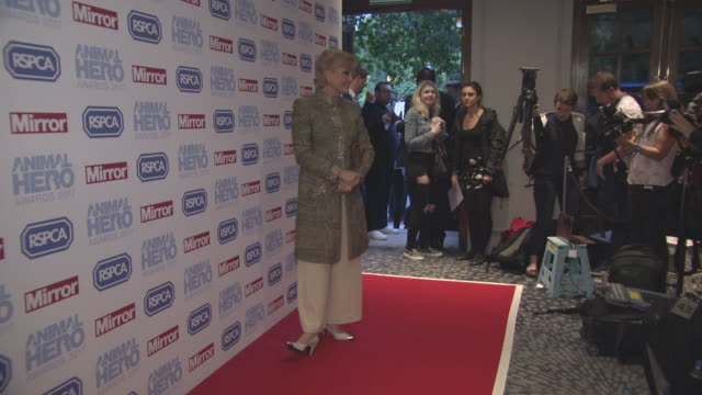 angela rippon at daily mirror animal hero awards on september 7, 2017 in london, england. - アンジェラ リッポン点の映像素材/bロール