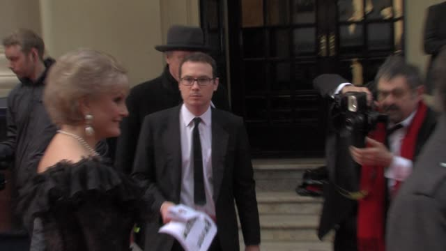 stockvideo's en b-roll-footage met angela rippon at the olivier awards at london england - angela rippon