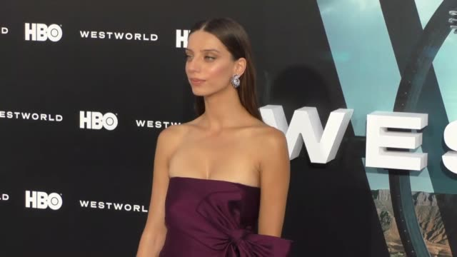 Angela Sarafyan at the HBO Premiere of Westworld at TCL Chinese Theatre in Hollywood at Celebrity Sightings in Los Angeles on September 28 2016 in...