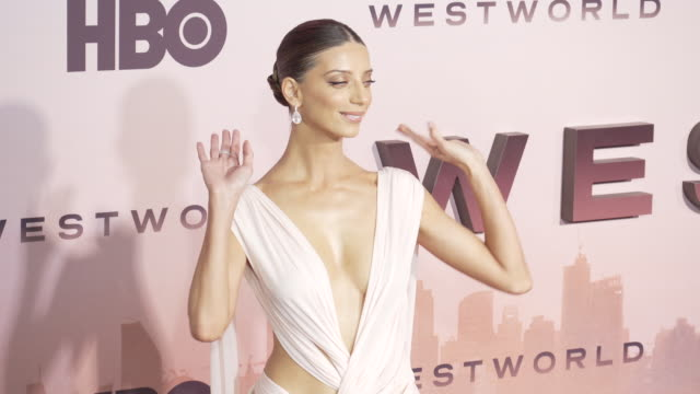 angela sarafyan at the los angeles season 3 premiere of the hbo's westworld - gif stock videos & royalty-free footage
