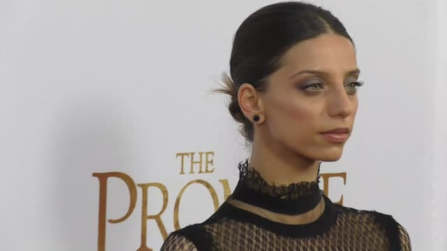 Angela Sarafyan at 'The Promise' Los Angeles Premiere at TCL Chinese Theatre on April 12 2017 in Hollywood California