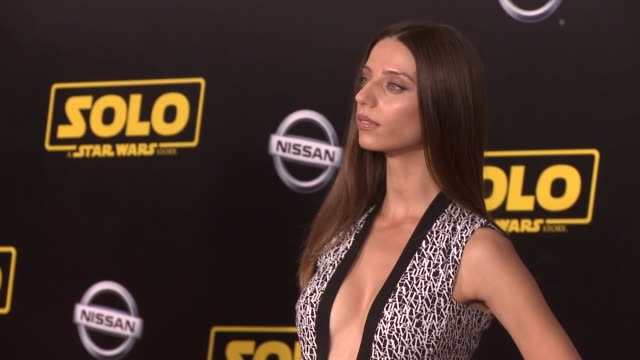 Angela Sarafyan at the 'Solo A Star Wars Story' World Premiere at the El Capitan Theatre on May 10 2018 in Hollywood California