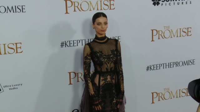 Angela Sarafyan at the 'The Promise' Los Angeles Premiere at TCL Chinese Theatre on April 12 2017 in Hollywood California