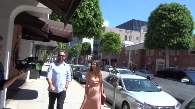 INTERVIEW Angela Sarafyan on Amazon buying Whole Foods while shopping in Beverly Hills at Celebrity Sightings in Los Angeles on June 16 2017 in Los...
